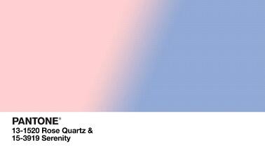 Pantone: ROSE QUARTZ & SERENITY